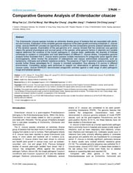 Plos One : Comparative Genome Analysis o... by Xiao, Jingfa