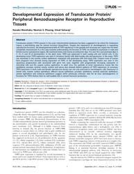 Plos One : Developmental Expression of T... by Yan, Wei