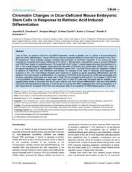Plos One : Chromatin Changes in Dicer-de... by Asakura, Atsushi