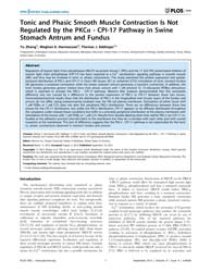 Plos One : Tonic and Phasic Smooth Muscl... by Hu, Wenhui