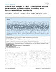 Plos One : Comparative Analysis of Latex... by Herrera-estrella, Alfredo