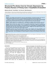 Plos One : Structured Pro-active Care fo... by Newman, Christy Elizabeth