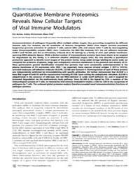 Plos Pathogens : Quantitative Membrane P... by Eric Bartee