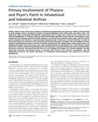 Plos Pathogens : Primary Involvement of ... by Glomski, Ian J.