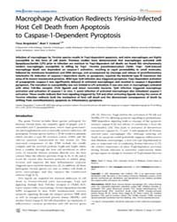 Plos Pathogens : MacRophage Activation R... by Cookson, Brad, T.