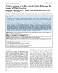 Plos Pathogens : Tobacco Mosaic Virus Mo... by Vogler,hannes