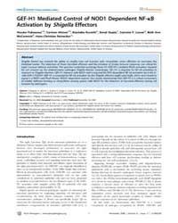 Plos Pathogens : Gef-h1 Mediated Control... by J.Philpott,dana