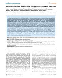 Plos Pathogens : Sequence -based Predict... by Arnold Roland