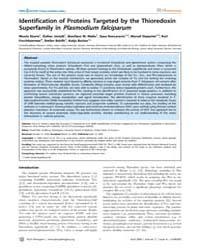 Plos Pathogens : Identification of Prote... by Sturum Nicole