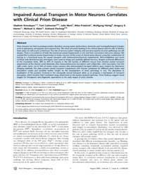 Plos Pathogens : Impaired Axonal Transpo... by Ermolayev Vladimir
