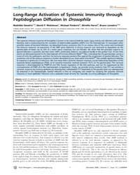 Plos Pathogens : Long-range Activation o... by Gendrin Mathilde