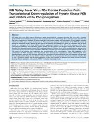 Plos Pathogens : Rift Valley Fever Virus... by Lkegami Tetsuro