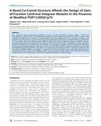 Plos Pathogens : a Novel Co-crystal Stru... by Ross, Susan