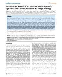 Plos Pathogens : Quantitative Models of ... by Ausubel,frederick,m