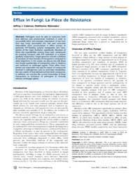 Plos Pathogens : Efflux in Fungi ; La Pi... by Coleman Jeffrey J.