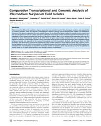 Plos Pathogens : Comparative Transcripti... by MacKinnon Margaret J