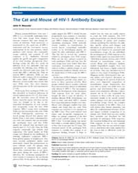 Plos Pathogens : the Cat and Mouse of Hi... by R. Mascola, John