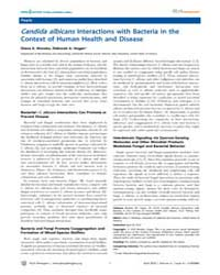 Plos Pathogens : Candida Albicans Intera... by Madhani, Hiten, D.