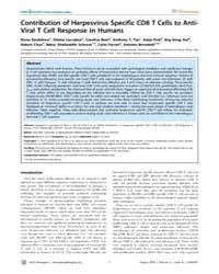 Plos Pathogens : Contribution of Herpesv... by Selin, Liisa