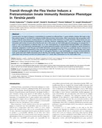 Plos Pathogens : Transit Through the Fle... by Jarrett, Clayton