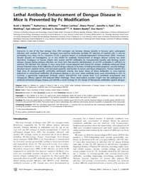 Plos Pathogens : Lethal Antibody Enhance... by Williams, Katherine, L.