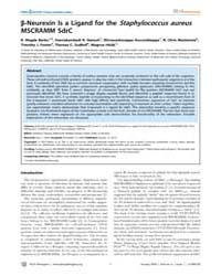 Plos Pathogens : Neurexin is a Ligand fo... by Ganesh, Vannakambadi, K.