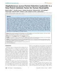 Plos Pathogens : Staphylococcus Aureus P... by Hussain, Muzaffar