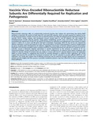 Plos Pathogens : Vaccinia Virus–encoded ... by Gammon, Don B.