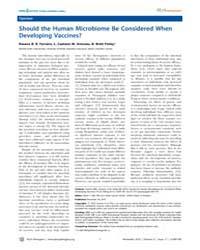 Plos Pathogens : Should the Human Microb... by Antunes, L., Caetano M.