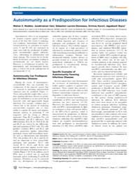 Plos Pathogens : Autoimmunity as a Predi... by Vani, Janakiraman