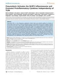 Plos Pathogens : Pneumolysin Activates t... by Burke, A´ Ine