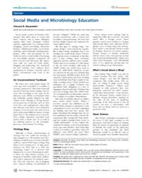 Plos Pathogens : Social Media and Microb... by Racaniello, Vincent, R.
