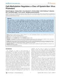 Plos Pathogens : Cpg-methylation Regulat... by Speck, Samuel H.
