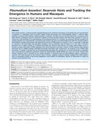 Plos Pathogens : Plasmodium Knowlesi ; R... by Lee, Kim-sung