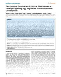 Plos Pathogens : Two Group a Streptococc... by Chang, Jennifer C.
