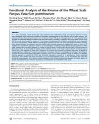 Plos Pathogens : Functional Analysis of ... by Howlett, Barbara Jane