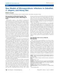 Plos Pathogens : New Models of Microspor... by Madhani, Hiten D.
