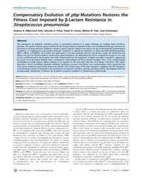 Plos Pathogens : Compensatory Evolution ... by Levin, Bruce