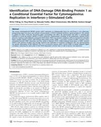 Plos Pathogens : Identification of Dna-d... by Früh, Klaus