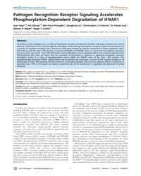 Plos Pathogens : Pathogen Recognition Re... by Diamond, Michael S.