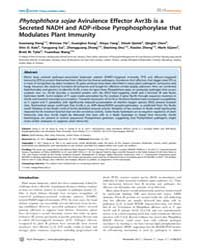 Plos Pathogens : Phytophthora Sojae Avir... by MacKey, David