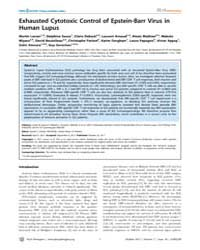 Plos Pathogens : Exhausted Cytotoxic Con... by Douek, Daniel C.