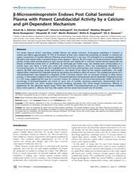 Plos Pathogens : B-microseminoprotein En... by Feldmesser, Marta