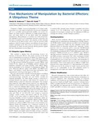Plos Pathogens : Five Mechanisms of Mani... by Miller, Virginia