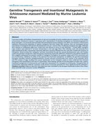 Plos Pathogens : Germline Transgenesis a... by Dvorak, Jan