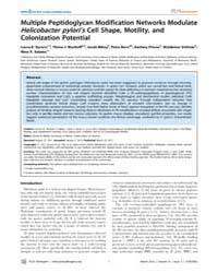 Plos Pathogens : Multiple Peptidoglycan ... by Blanke, Steven R.