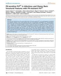 Plos Pathogens : Pk-sensitive Prpsc is I... by Supattapone, Surachai