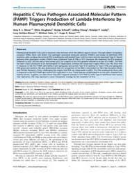 Plos Pathogens : Hepatitis C Virus Patho... by Karen L. Mossman