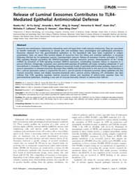 Plos Pathogens : Release of Luminal Exos... by William A. Petri Jr.