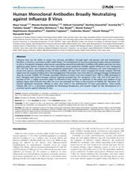 Plos Pathogens : Human Monoclonal Antibo... by Messling, Veronika Von